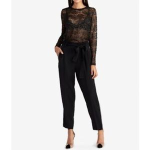 Rachel Roy Vivian Top Black Lace & Gold Size L